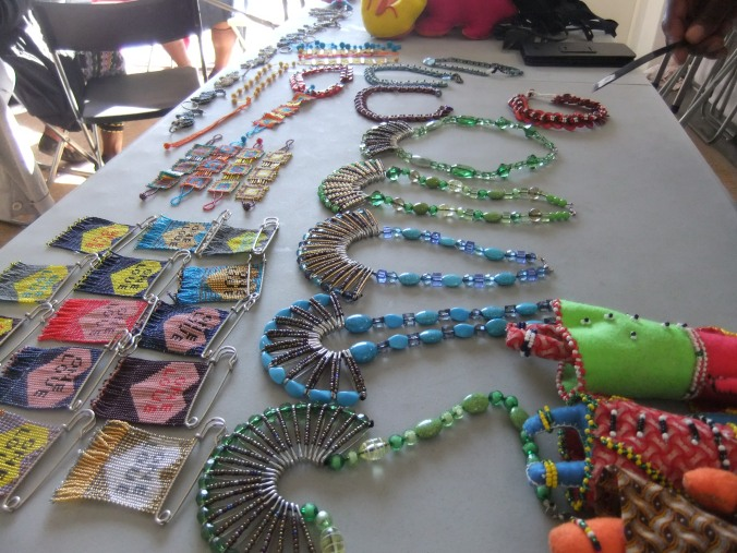 Bead work made by women in the township, Cape Town, South Africa