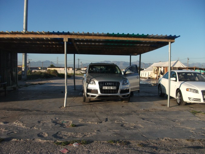 Car wash, township, Cape Town, South Africa