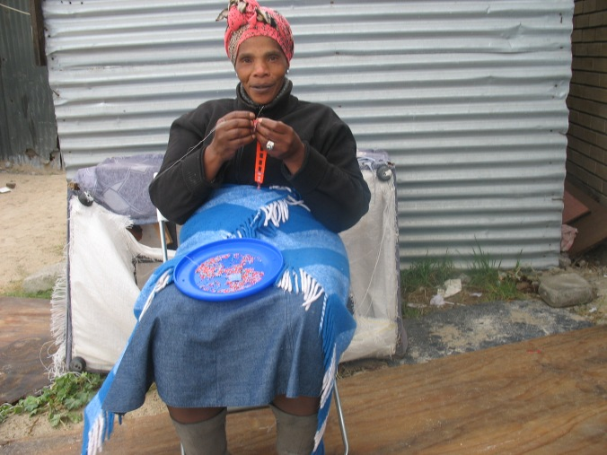 Bead work, township, Cape Town, South Africa
