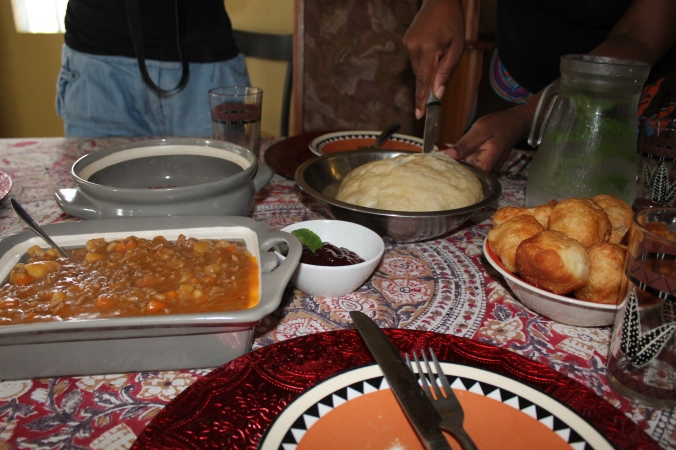 Steam bread, township lunch, South Africa