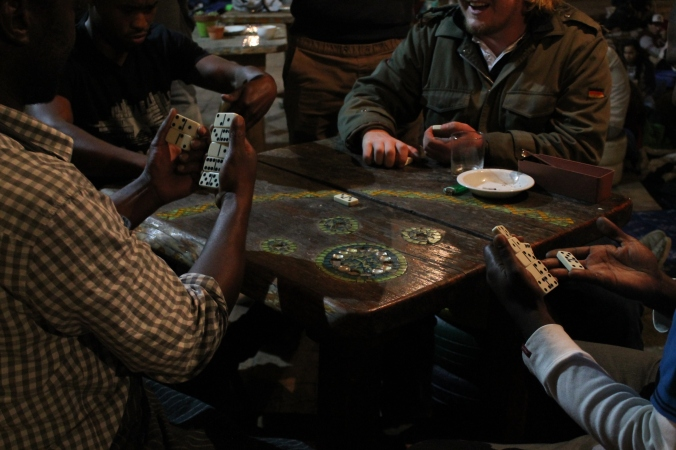 Playing dominoes in the Township, Cape Town, South Africa