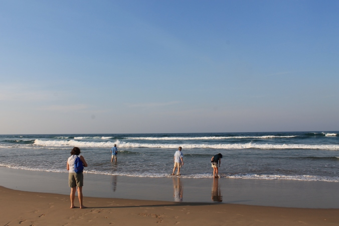 Leisure researchers at the beach, Durban, South Africa